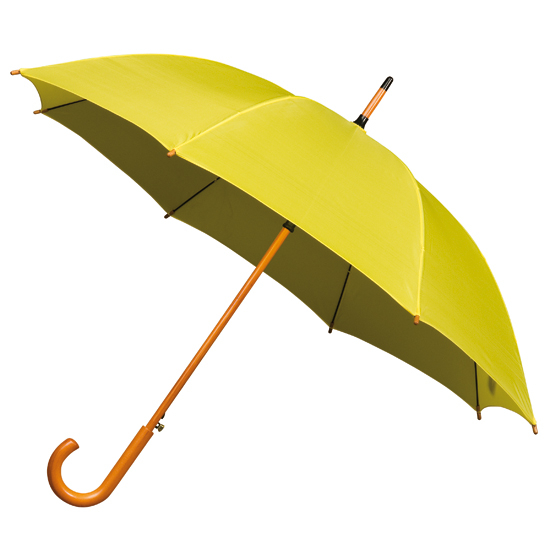 gele paraplu
